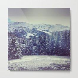 Snowy pines Metal Print