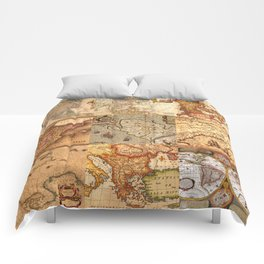 Old maps Comforters