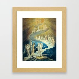 William Blake Jacob's Ladder Framed Art Print