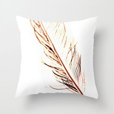 Peacock Feather 1 Throw Pillow