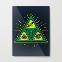 The Tribal Triforce Metal Print
