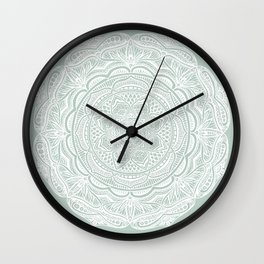 Dedication to Lucy (sage) Wall Clock