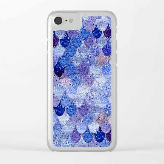 SUMMER MERMAID ROYAL BLUE Clear iPhone Case