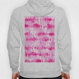 Boho bright hippie neon pink tie dye stripes pattern hand painted watercolor Hoody