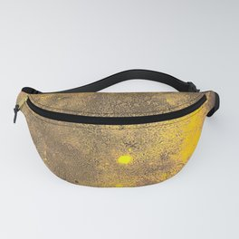 Yellow Painted on Concrete Fanny Pack