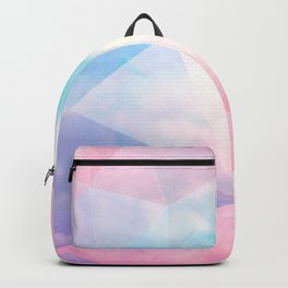 Cotton Candy Geometric Sky #homedecor #magical #lifestyle Backpack
