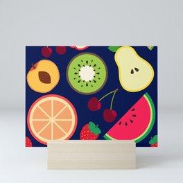 Fruit pattern vector illustration colorful Mini Art Print