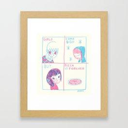 Pizza > Girls Framed Art Print