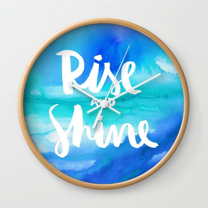Rise & Shine [Collaboration with Jacqueline Maldonado] Wall Clock