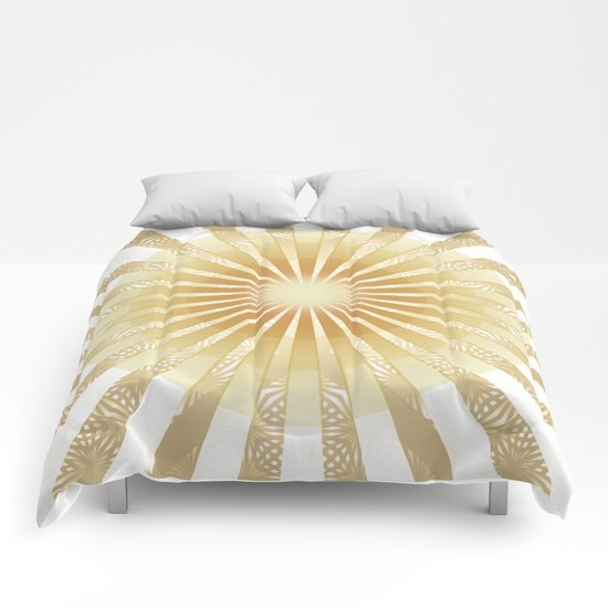 Golden Rays Mandala Comforters