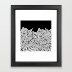 Abstraction Mountain Framed Art Print