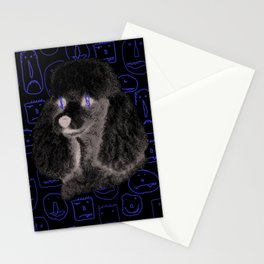Poodle Print Stationery Cards