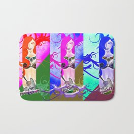 Warrior Lady.  Bath Mat