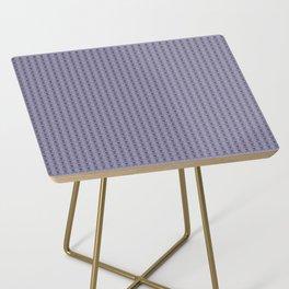 Black and Lavender Skulls Side Table