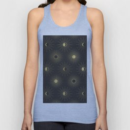 Moon and Sun Theme Unisex Tank Top