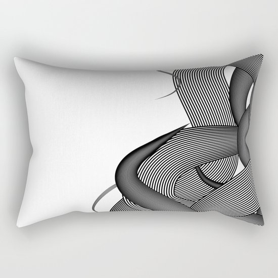Hairy Waves Rectangular Pillow