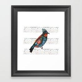 Birds and hats! Framed Art Print