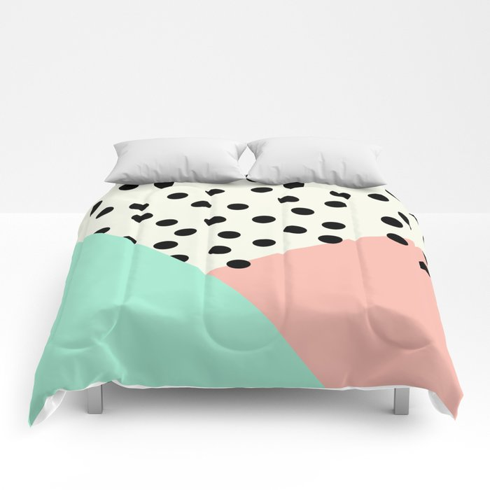 Mod Blush and Dots Comforters