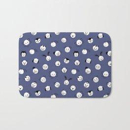 Kids Animal Polka Dots Blue White Bath Mat