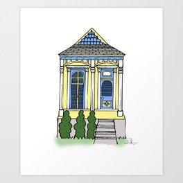 New Orleans Shotgun House - Color Art Print