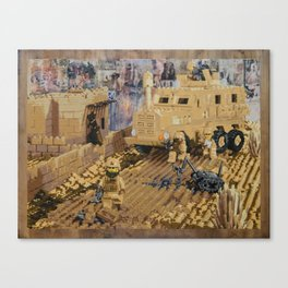 Clearing the Road, Kandahar Province, Afghanistan Canvas Print