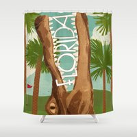 florida Shower Curtains featuring Florida by Santiago Uceda