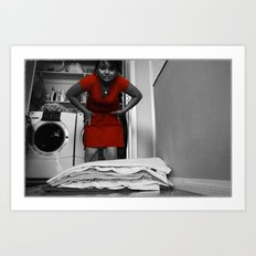 Towel Folding Art Print