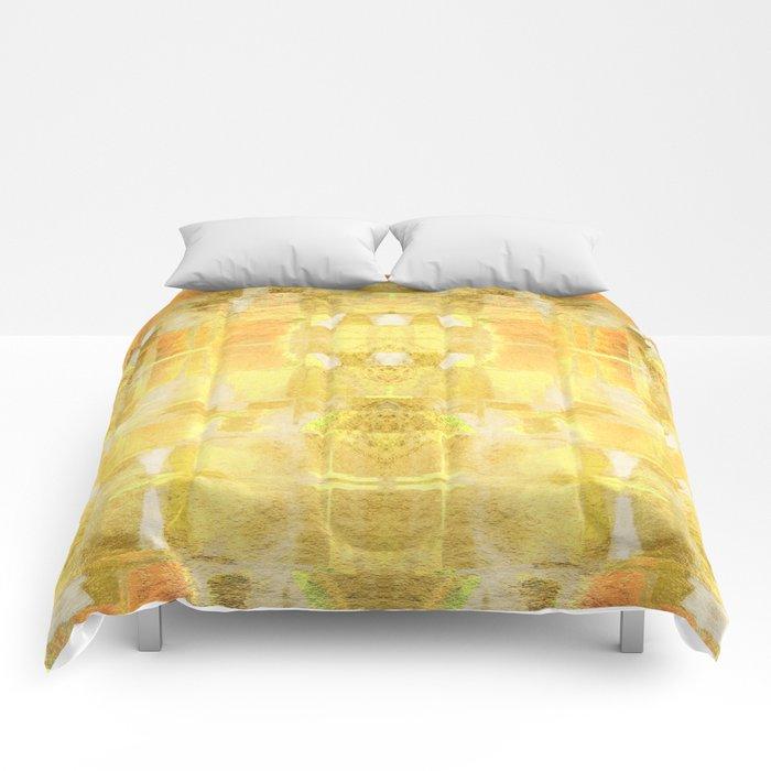 Babalon - Gold Metallic Soft Mid Century Pattern Comforters
