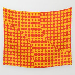 Orange Grunge Background Wall Tapestry