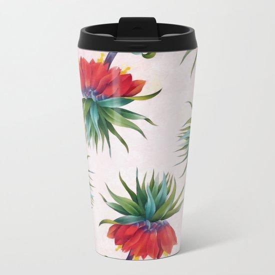 Crown imperial flowers Metal Travel Mug