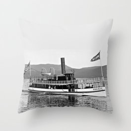 Vintage Mohican Steamboat Throw Pillow