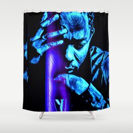 heavy black heart (Lamar) Shower Curtain