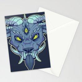 Oni Japanese Mask Stationery Cards