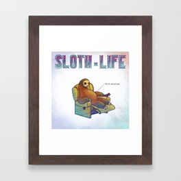 SLOTH LIFE fig. 9. Framed Art Print