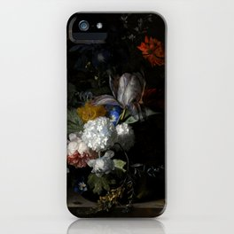 """Jan van Huysum """"Flowers in a glass vase"""" iPhone Case"""