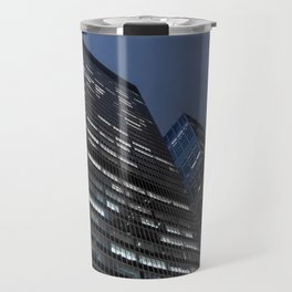 Modern buildings in New York City Manhattan at Night Travel Mug