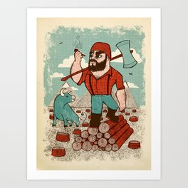 Paul Bunyan & Babe Art Print