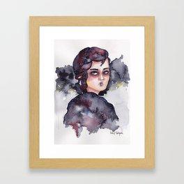 RED NIGHT Framed Art Print