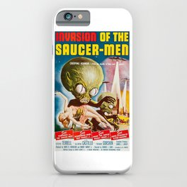 Invasion of the SaucerMen, Horror Movie Vintage Poster iPhone Case