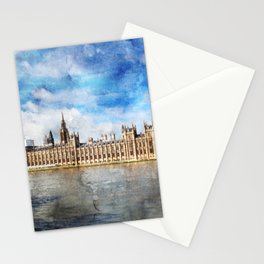 london-parliament-river-thames Stationery Cards