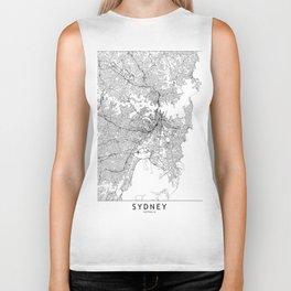Sydney White Map Biker Tank
