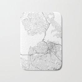 Auckland White Map Bath Mat