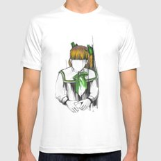 Katy White Mens Fitted Tee MEDIUM