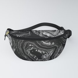 White marble lines Fanny Pack