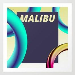 Malibu. Art Print