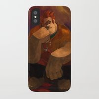 wreck it ralph iPhone & iPod Cases featuring Vermeer Ralph by Zimeta