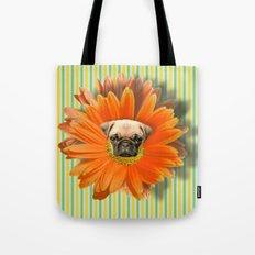 Pistil Pug Tote Bag