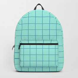 Grid Pattern - aqua and teal - more colors Backpack