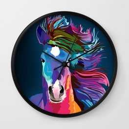 pop art horse Wall Clock