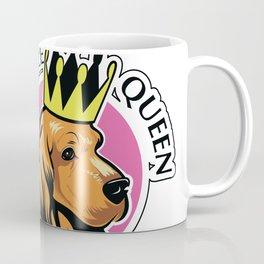 Red female cocker spaniel head with crown Coffee Mug